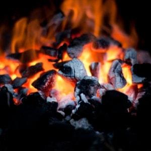 Lump Charcoal Burning