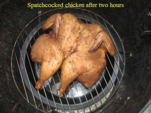 Spatchcocked chicken after two hours