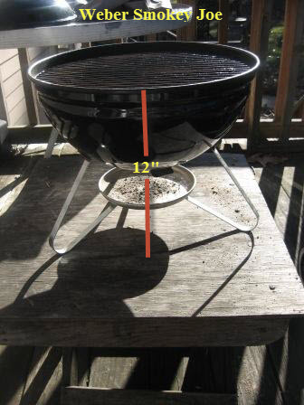 Weber Smokey Joe Table.Sizing Up The Weber Smokey Joe And The Weber One Touch Grills