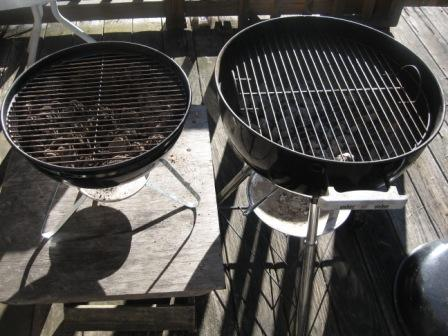 Weber Smokey Joe and Weber One Touch Grill