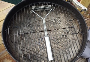 On my Weber One Touch Grill Grate