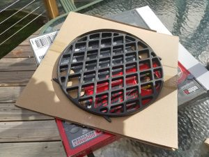 My Weber Sear Grate just out of the box