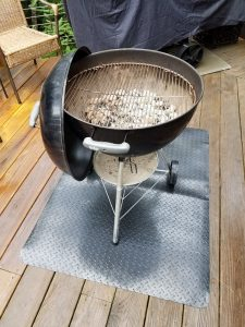 "My Weber 22"" Charcoal Grill with cover off"