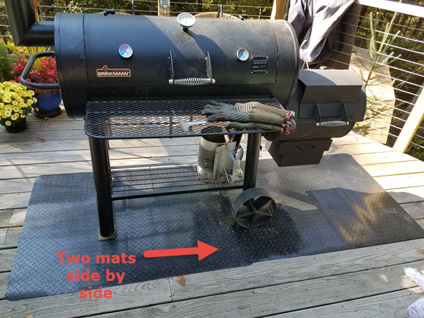 Grill & Garage Protective Mat with Smoker